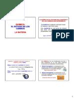 #1 La Materia, Unidades y Medidas Química Fundamental