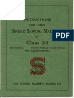 Singer Class 24 Instruction Manual
