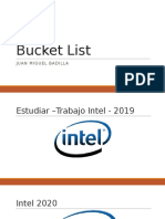 Bucket List Juan Miguel Badilla