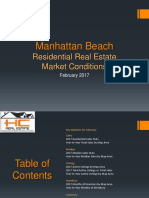 Manhattan Beach Real Estate Market Conditions - February 2017