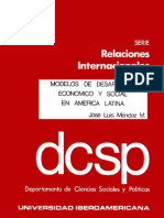 Modelos de Desarrollo Económico y Social en America Latina PORTADA