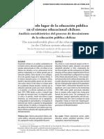 Barrientos e Ilabaca (2016) El Incomodo Lugar de La Educación Pública Chilena