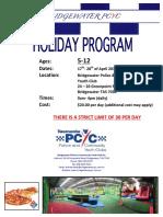 Bridgewater PCYC 5-12years School Holiday Program
