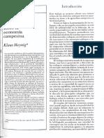 Heynig (1982) Principales Enfoques Sobre La Economia Campesina