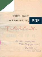 (1959) Việt Ngữ Chánh Tả Tự Vị - Lê Ngọc Trụ