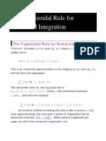 Trapezoidal Rule