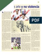 Fútbol es Arte y no Violencia