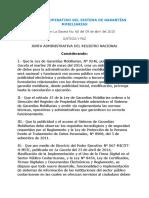 Reglamento Operativo Del Sistema de Garantias Mobiliarias