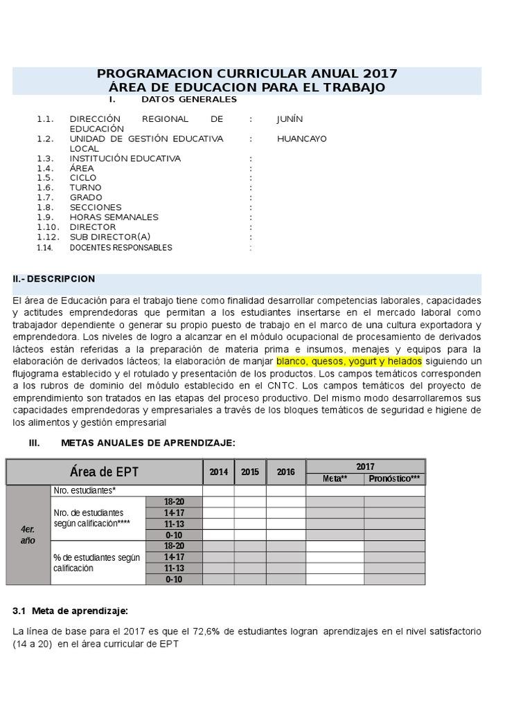 UNIDAD DIDACTICA ANUAL DE EPT 1° - 5° SECUNDARIA