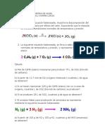 Taller de Estequiometria de Gases