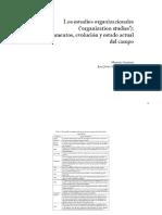 Estudios Organizacionales Evolución