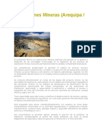 Operaciones Mineras