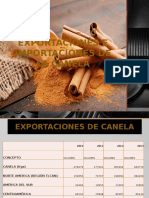 Exportaciones e Importaciones de La Canela