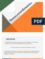 Generalización Estadistica