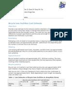 Bicycle Lane Facilities Cost Estimate.,,,,,,,,,,,,,,