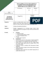 SPO Pengambilan &Pengiriman Sample Untuk Pemeriksaan Mikro