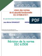 Evolution Des Normes ICEC 61508-61511-JM-DRANGUET
