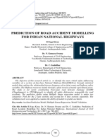 PREDICTION OF ROAD ACCIDENT MODELLING FOR INDIAN NATIONAL HIGHWAYS