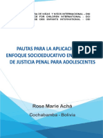 Pautas Para La Aplicación Del Enfoque Socioeducativo en el sistema de Justicia Penal para Adolescentes