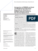 Comparison of MERGE and Axial T2-Weighted Fast Spin-Echo Sequences for Detection of Multiple Sclerosis Lesions in the Cervical Spinal Cord