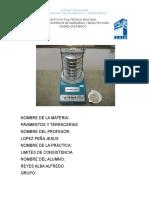 Reporte de Practica Granulometria