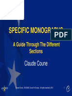 Claude Coune - Specific Monographs