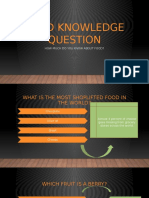 Food Knowledge Question