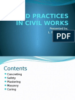 Good Practices in Civil Works