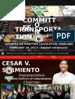 Pending Maritime Legislation - Presentation by Atty Jorge Franco Sarmiento
