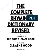 Clement Wood(Ed) - The Complete Rhyming Dictionary Revised (PDF)
