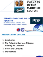 Efforts to Boost Philippine Ship Registry - Presentation by MARINA Administrator Dr Marcial Amaro