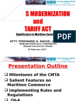 Customs Modernization and Tariff Act - Presentation by Atty Randy Nague