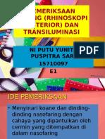 Ppt Rhinoskopi Posterior & Transiluminasi - Dm Ni Putu Yunita Ps - 1570097