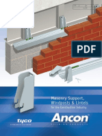 Masonry Support Windposts Lintels (Ancon)