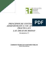 Principios de contratación administrativa y su aplicación practica en las áreas de riesgo.