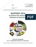 Rapport Financier Et RH 2016