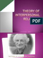 Theory of Interpersonal Relations-peplau