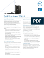 Dell Precision T3610 Spec Sheet