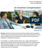A Fresh Look at Employee Incentive Compensation