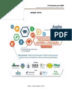 Anais do 22º encontro da Asphe - Bagé - 2016