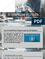 Top 10 WordPress Plugins used by WP Experts