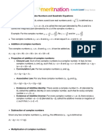 Complex Numbers and Quadratic Equations