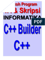 Contoh Program Boland C++ Builder Untuk Tugas Akhir dan Skripsi