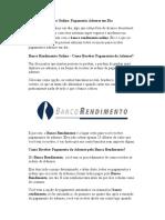 Banco Rendimento Online - Pagamento Adsense Em Dia