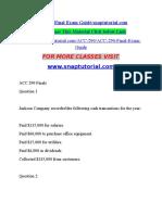ACC 290 Final Exam Guidesnaptutorial.com