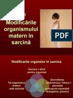 03 Modificarile Organismului in Sarcina