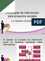 Estrategias de Intervención Para Proyectos Sociales