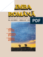 Limba Romana_Revista de stiinta si cultura