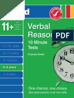 Verbal Reasoning 10 Minutes Tests 8-9