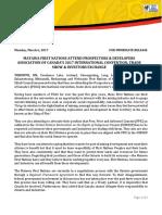 Matawa Media Statement on Attending 2017 PDAC - March 6%2c 2017